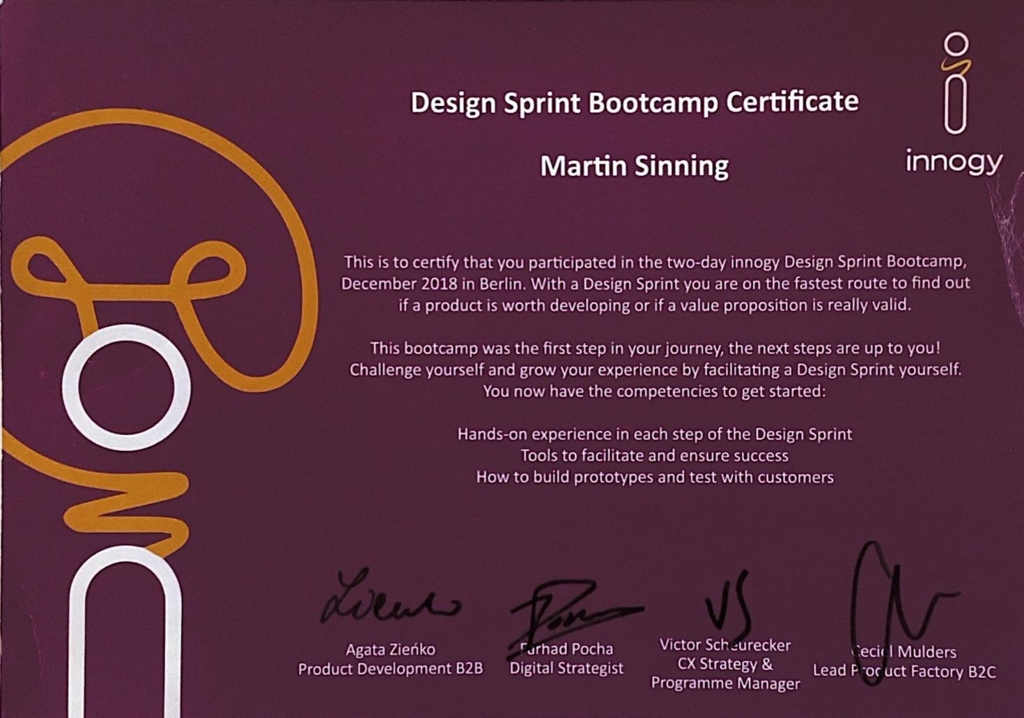 Sprint Design Facilitator Certificate